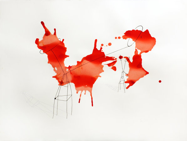 attrapes rouge 57 x 76 cm