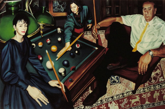 Le billard ( famille Maud Frison)
