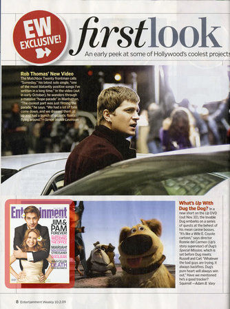 Rob Thomas, Entertainment Weekly