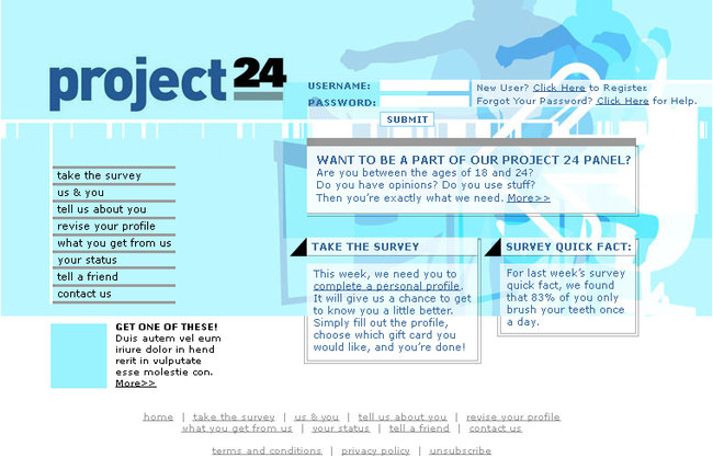 Project24 site for 18-24 yr olds
