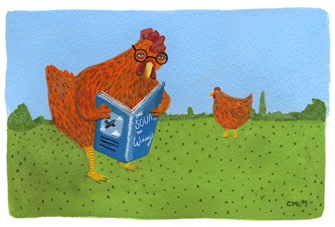 reading chicken large