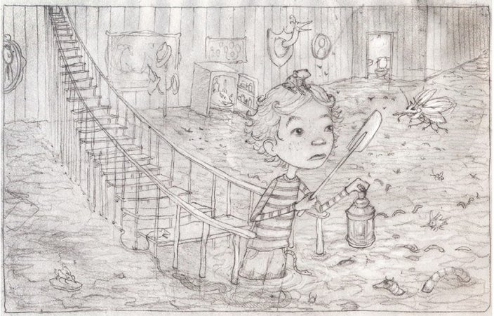 Concept Drawing for Inside the Slidy Diner.