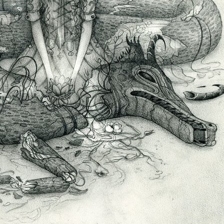 She Who Put Her Faith in Dragons, detail.