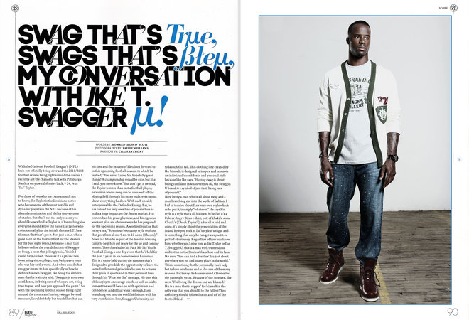 Bleu magazine Ike taylor sailey williams