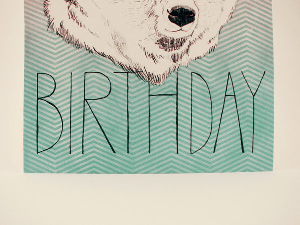 Polar Bear: Happy Birthday Card