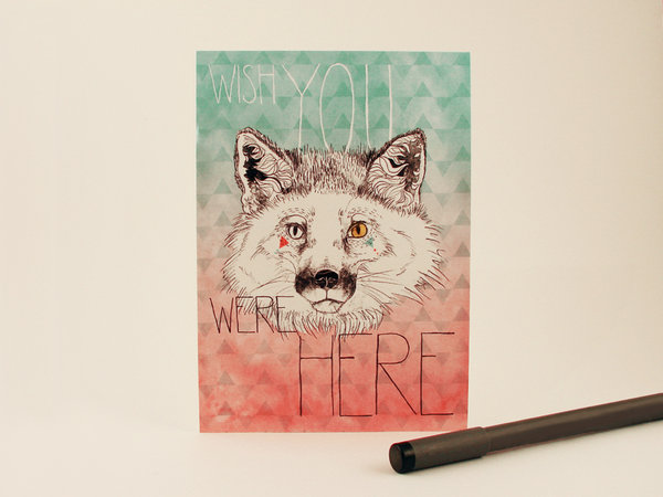 Arctic Fox: Wish You Were Here Card