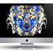 iMac Tiger Beer black background.