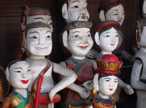 """Water Puppets in the Temple of Literature I"""