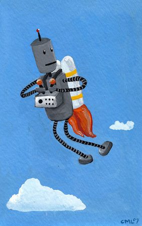rotm robot with rocket pack