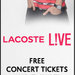 amex lacoste twoconcertticketsandtshirt 160x600 v1